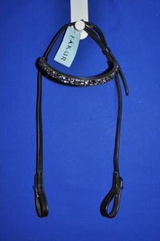 Fákur Kopfstück mit silber, blau, lila Steinchen