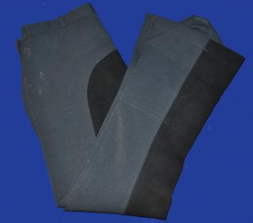 Horka Reithose, Vollbesatz, grau/schwarz, Grösse L